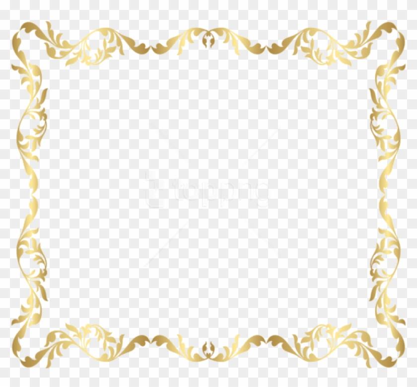 Free Png Download Border Frame Gold Transparent Clipart - Border Frame Transparent Background #1695278