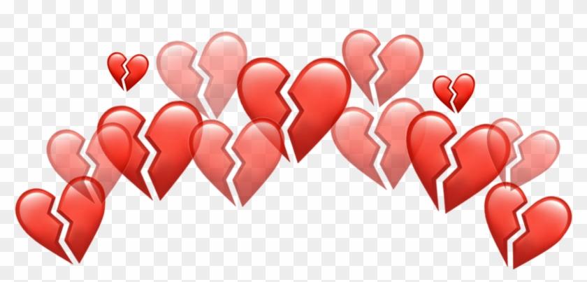 Broken Brokenheart Red Sad Heart Heartred Redheart - Heart Clipart #1698299