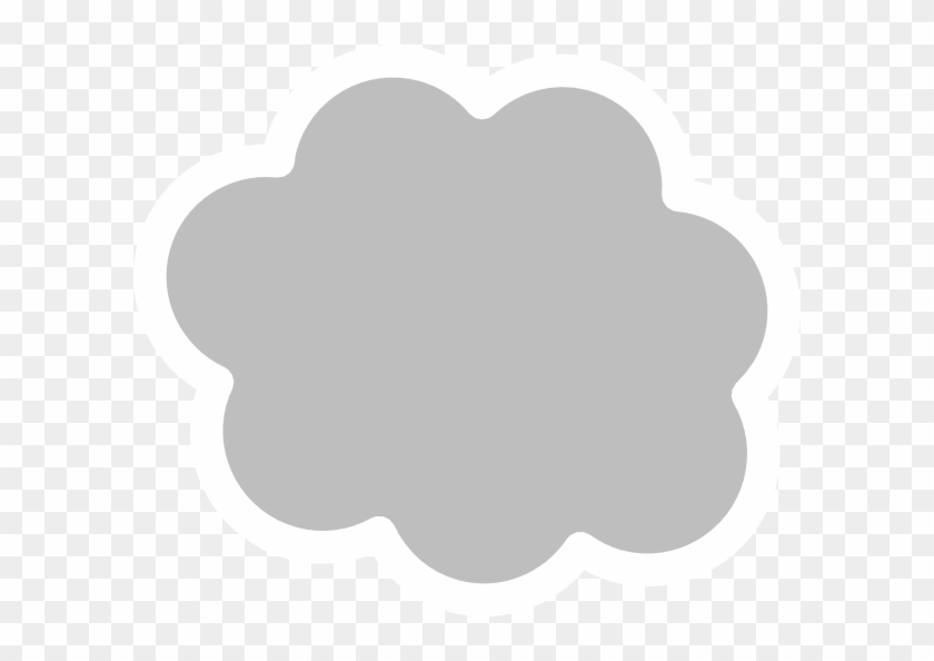 White Cloud Outline Png Clipart #170523