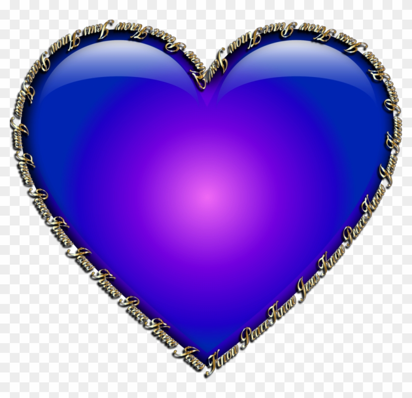 Heart Peace Sign And Crown Clipart - Royal Blue Colour Hearts - Png Download #172285