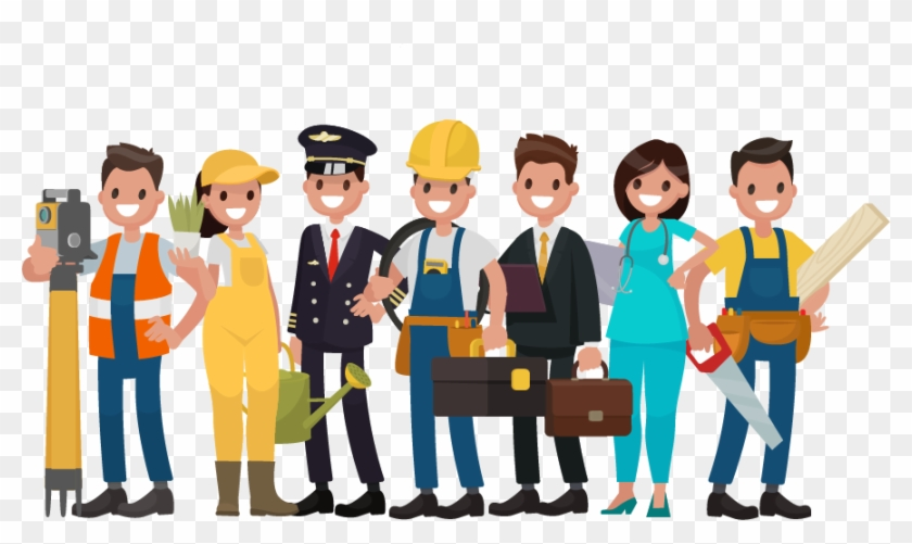 Staff Animated People With Jobs Clipart 173269 Pikpng