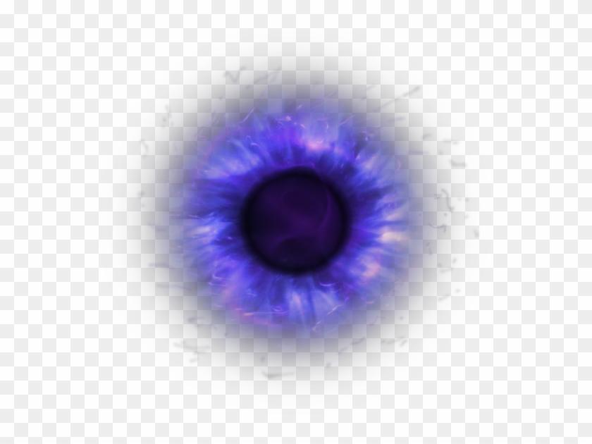 Eye Iris Pupil Dark Purple Magic Fantasy Horror Glow - Purple Glowing Eyes Png Clipart #173817