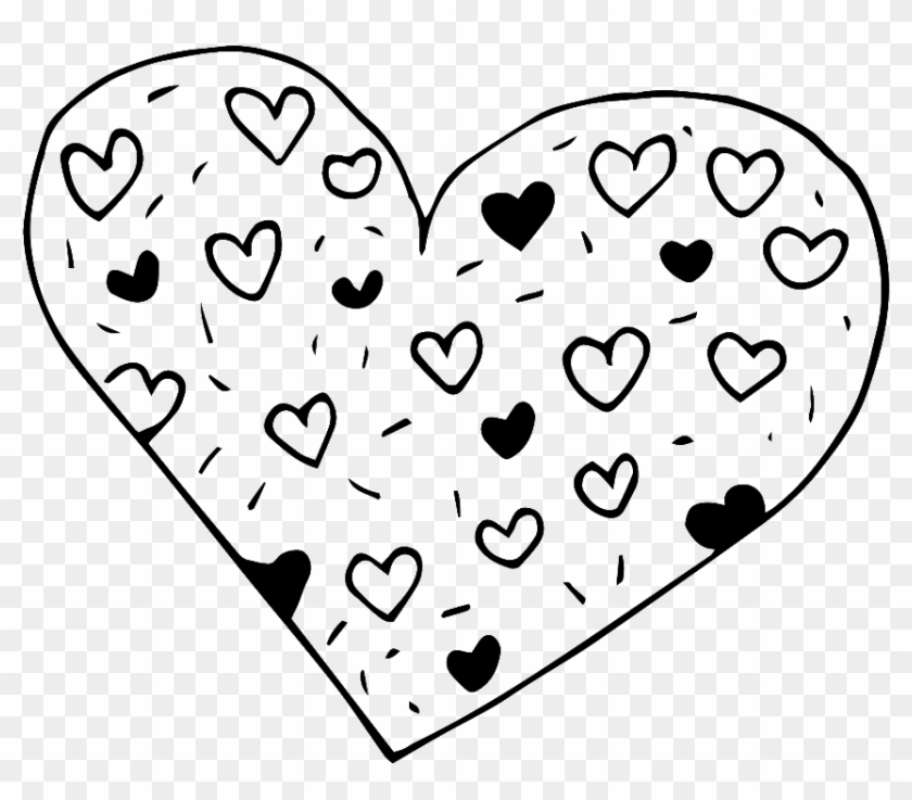 Black And White Hand Drawn Heart Shaped Love Vector Heart