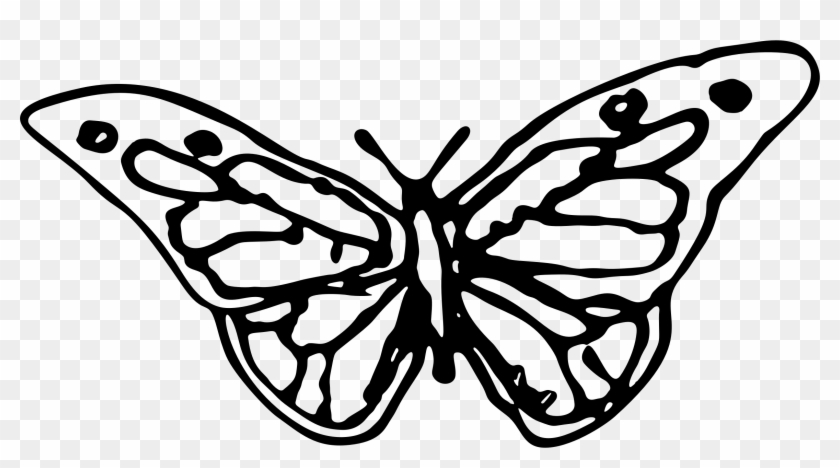 This Free Icons Png Design Of Hand Drawn Butterfly Clipart #174146