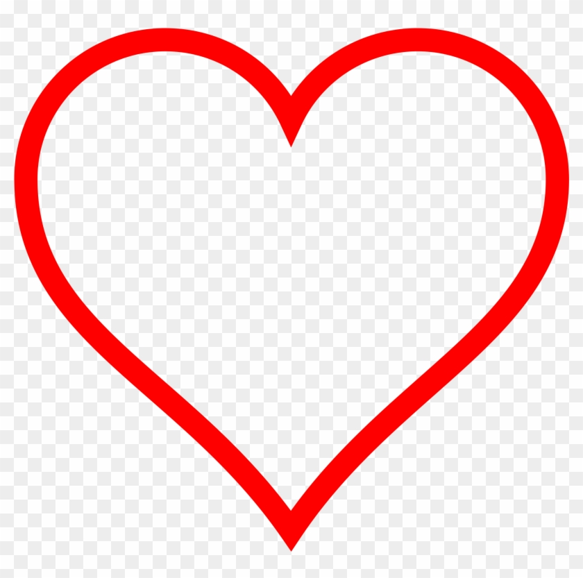 Heart Jpg Png Hd - Red Heart Outline Clipart Transparent Png #174220