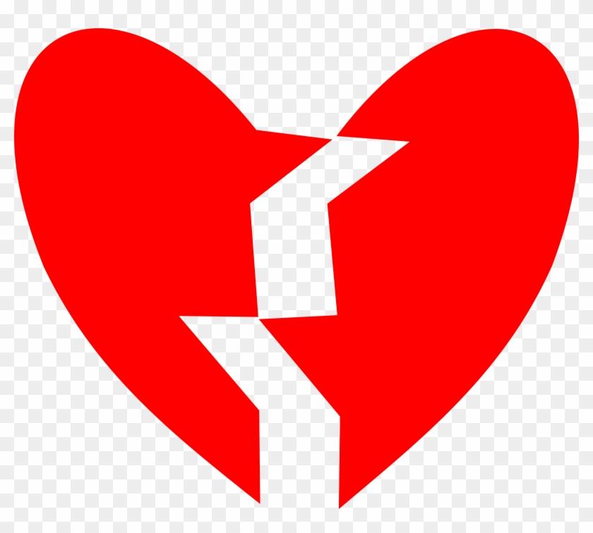 Broken Heart Vector Art Image - Broken Heart Svg Clipart #174675