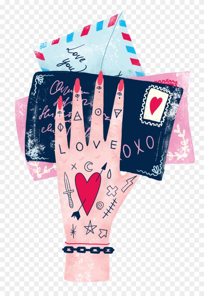 Cartoon Pattern Hand Drawn Transparent - Love Clipart #174740