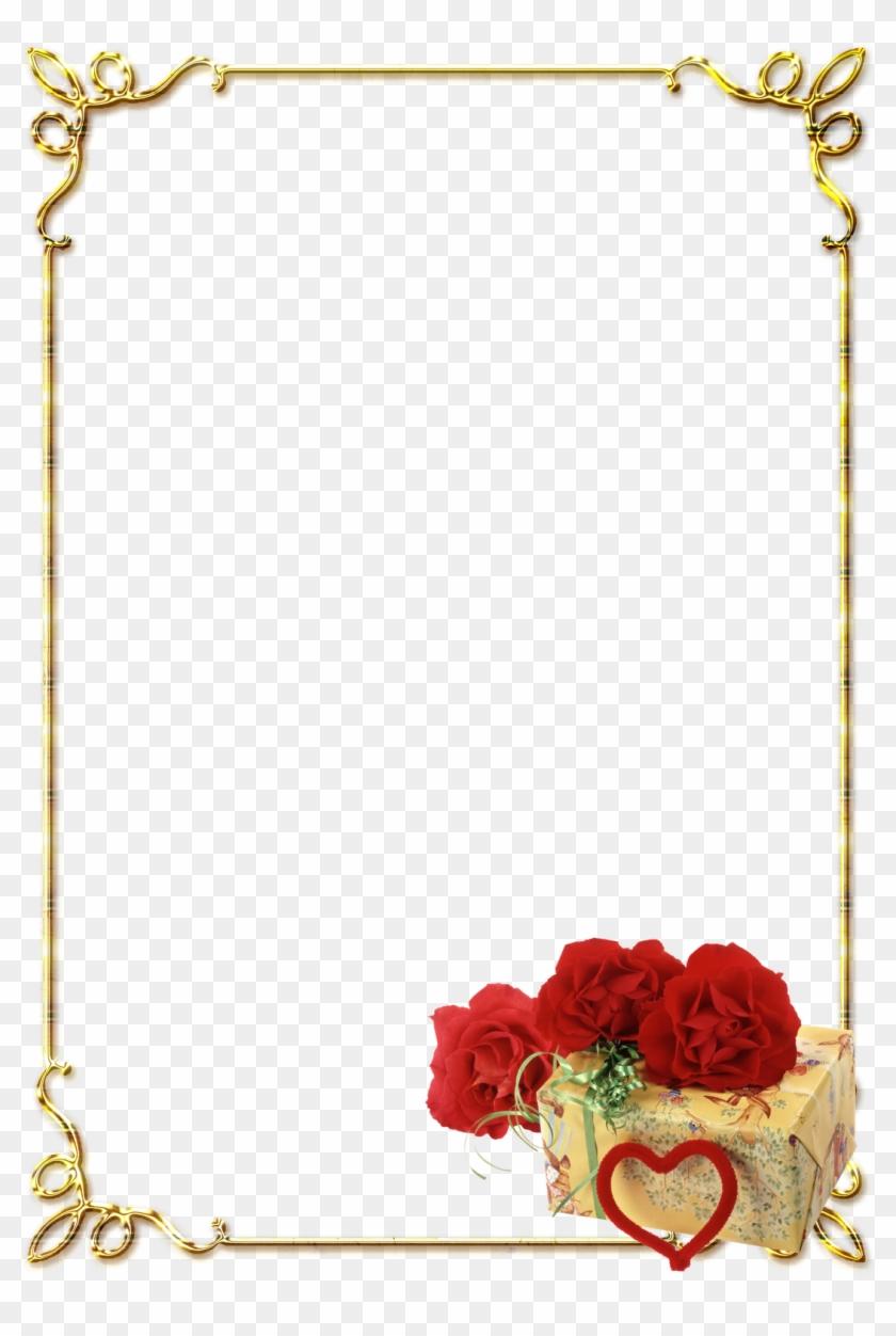 Free Png Download Bordas Rosas Vermelhas Png Images - Page Border Design Png Clipart #175151