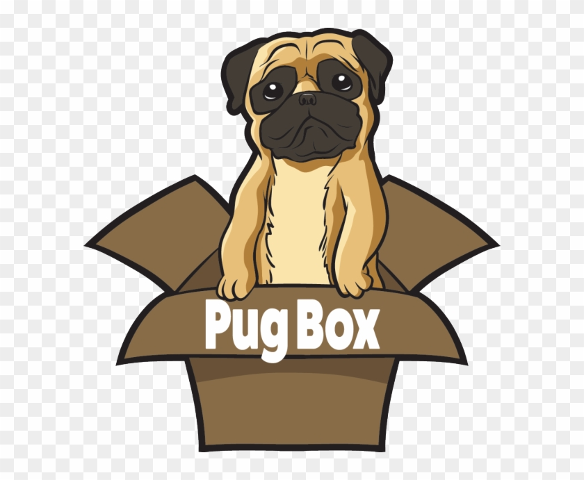 Premium Pug Box - Dog In Box Cartoon Png Clipart #178624