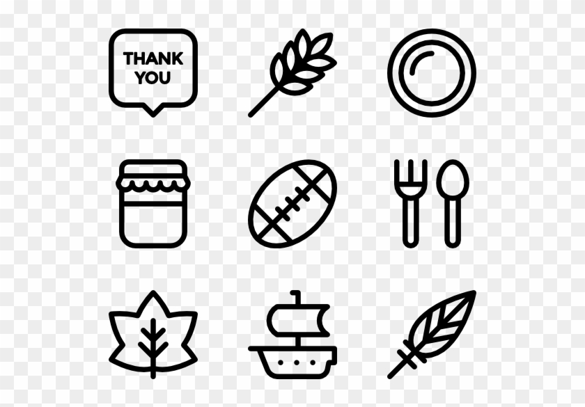 Thanksgiving - Web Design Line Icon Clipart #1701603