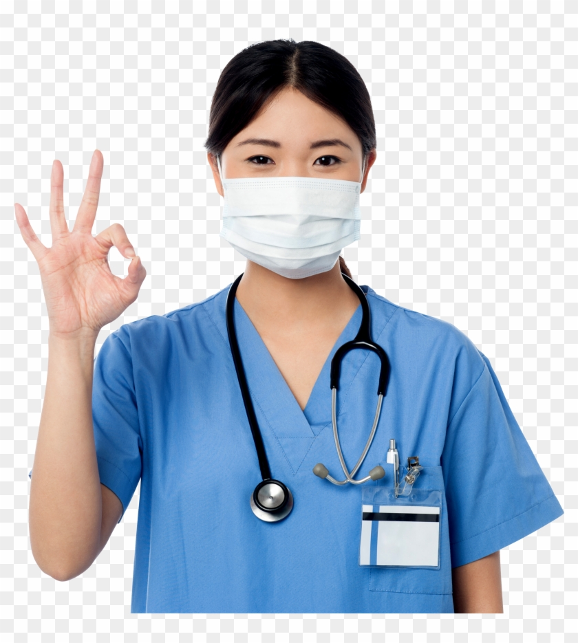 Women Pointing Perfect Symbol - Women Doctors Png Clipart #1709724