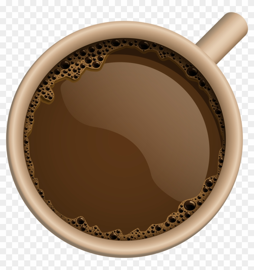 Brown Coffee Cup Png Clipart Image - Coffee Mug Top View Png Transparent Png #1713303