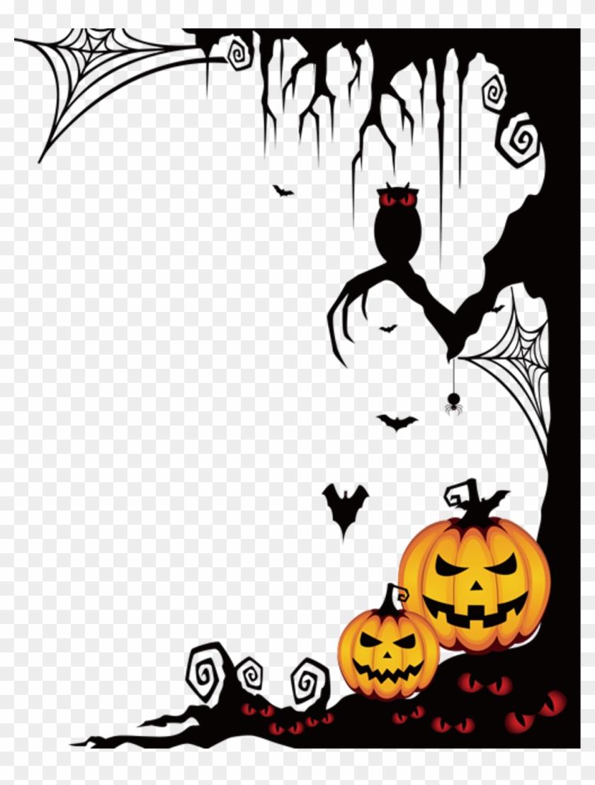#halloween #spooky #frame #border #ftestickers - Transparent Halloween Png Border Clipart #1718519