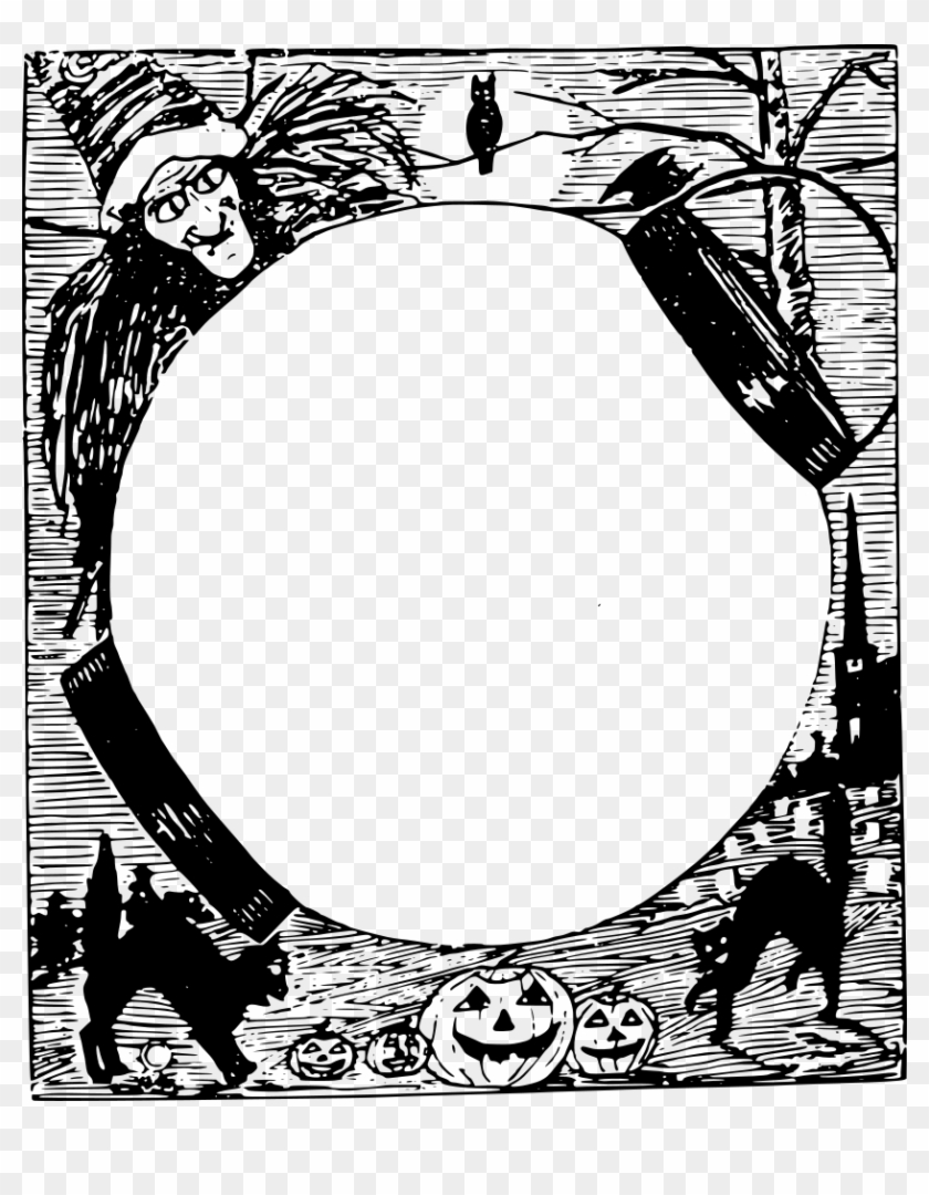 Halloween Frame Png - Free Halloween Picture Frames Clipart #1718557