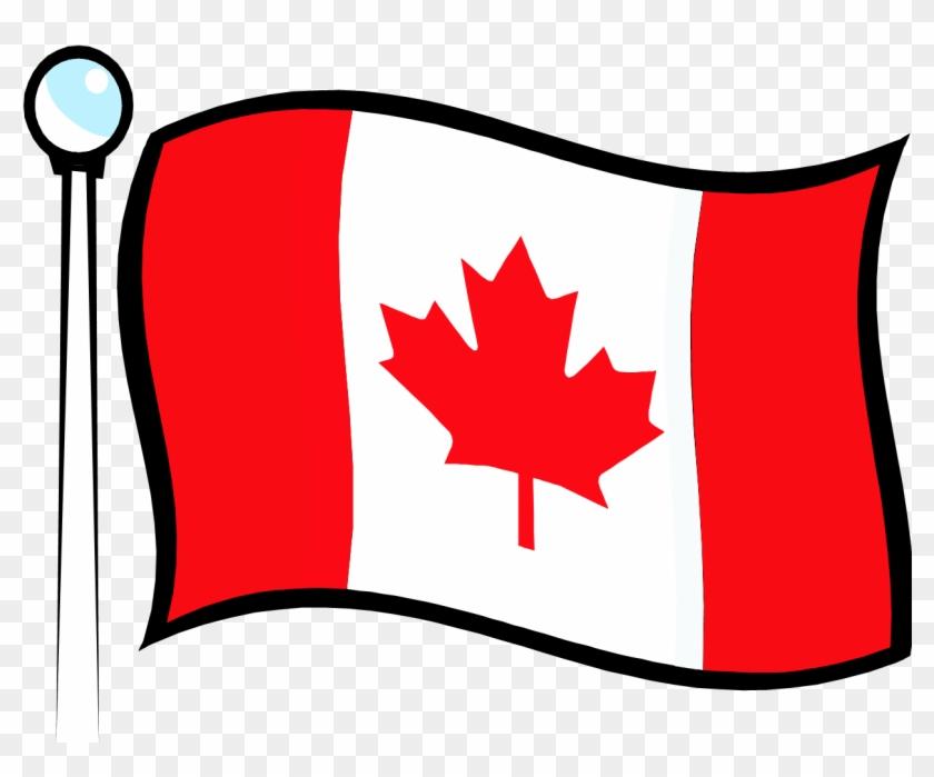 Canada Flag Clipart Png - Cartoon Canada Flag Png Transparent Png #1722945