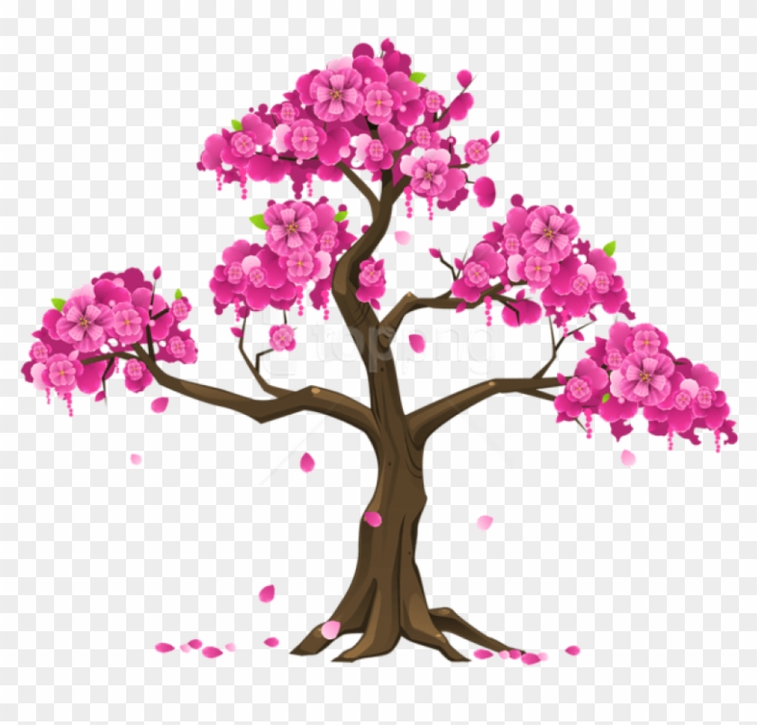 Free Png Download Pink Tree Png Images Background Png - Cherry Blossom Tree Clipart Transparent Png #1745898