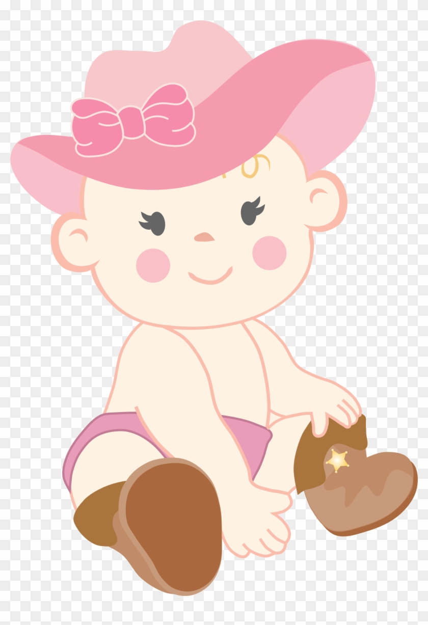 Cowgirl Clipart Baby Shower - Baby Shower Clip Art - Png Download #1754811