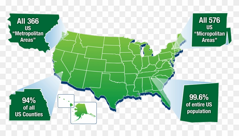 Green-map - Red Blue States Trump Clinton Clipart #1757270