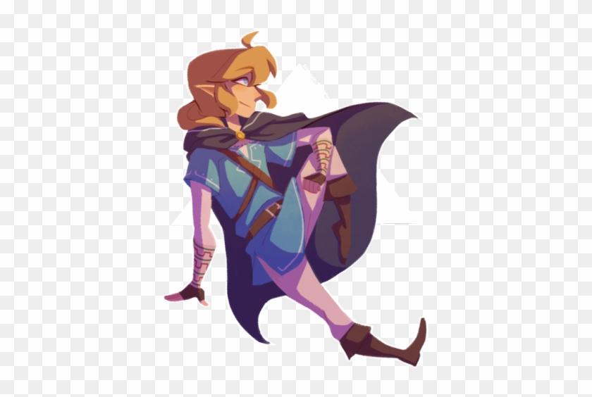 Link Zelda Png Zelda And Link Botw Transparent Clipart