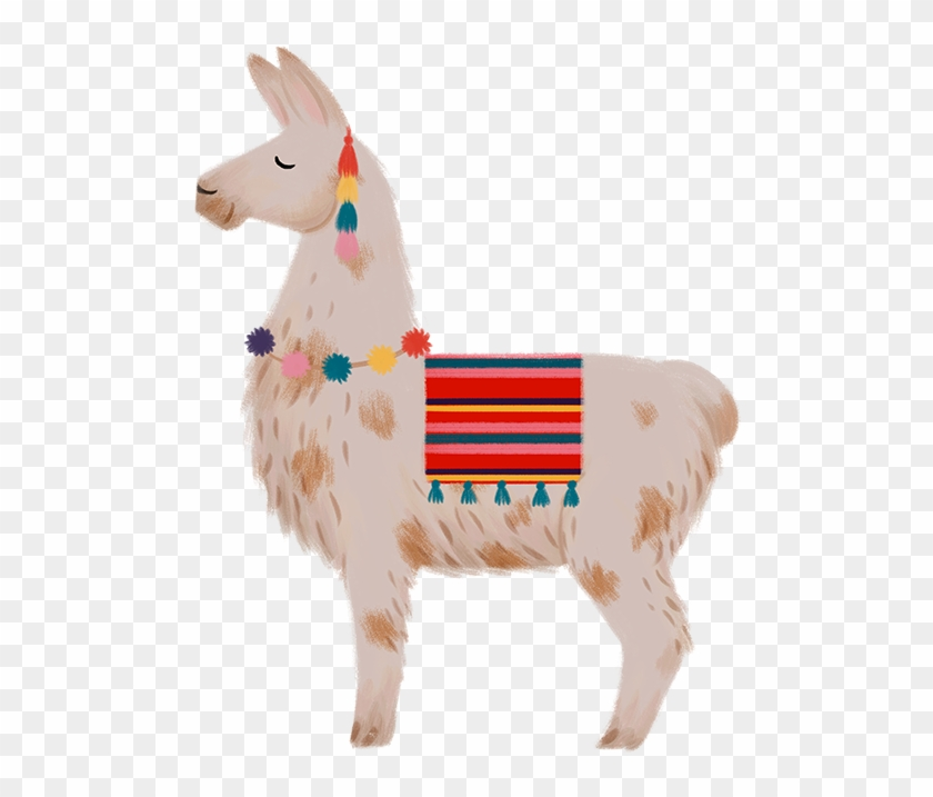 White cute llama clipart.Isolated on ... | Stock vector | Colourbox