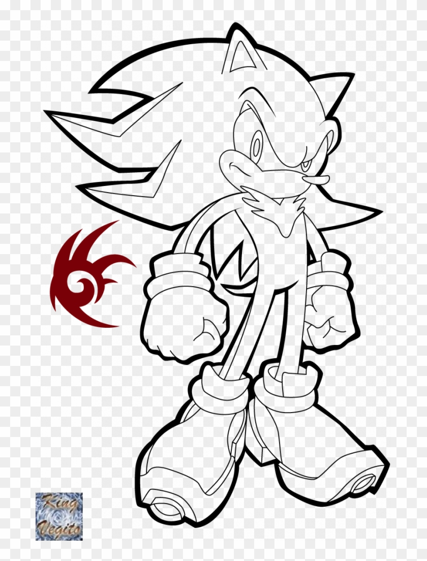 Super Shadow The Hedgehog Sonic The Hedgehog Shadow Coloring Pages Clipart 1788336 Pikpng