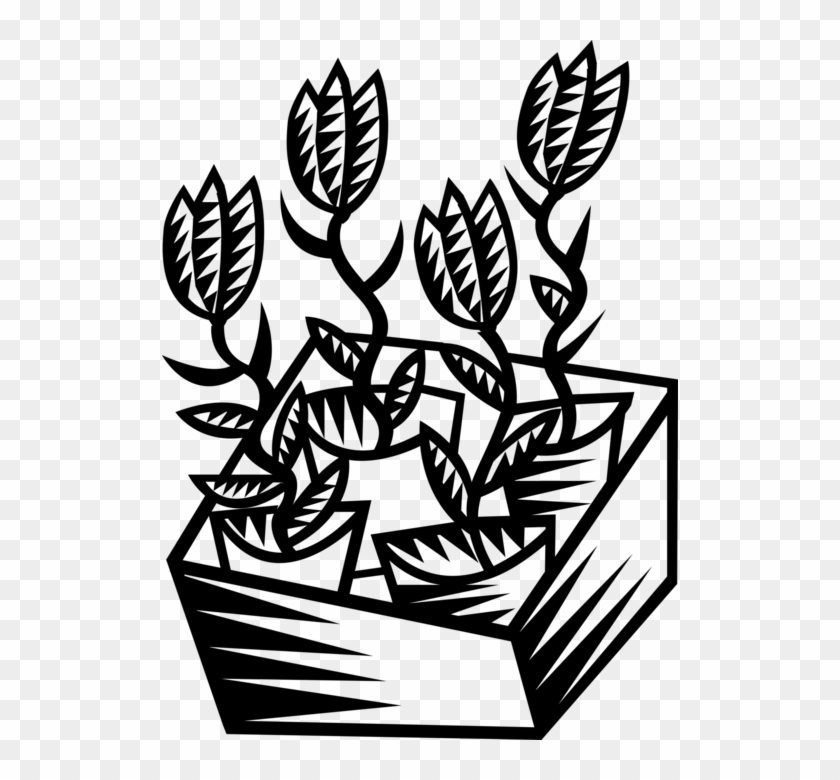 Vector Illustration Of Plant Nursery Greenhouse Flowers Clipart #1789613