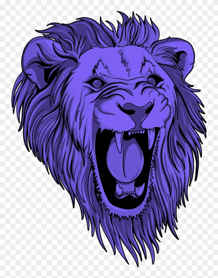 #mq #purple #lion #lions #head #wild - Vector Cara De Leon Clipart #1790821