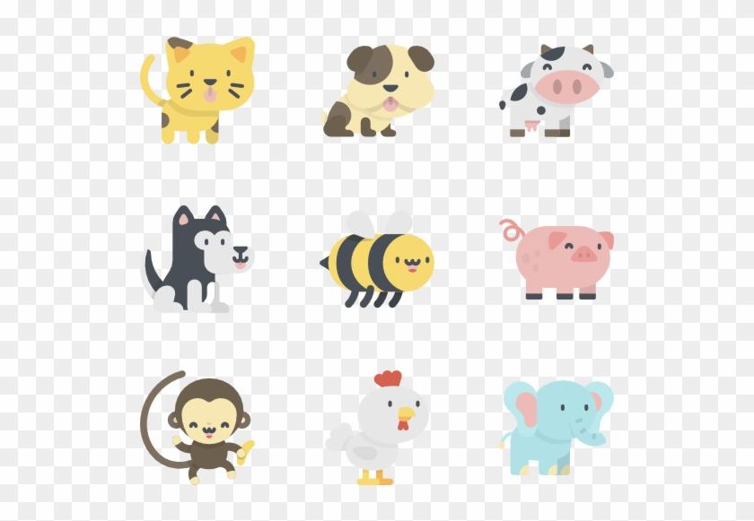 Image Royalty Free Flat Vector Animal - Kawaii Animals Png Clipart #1790975
