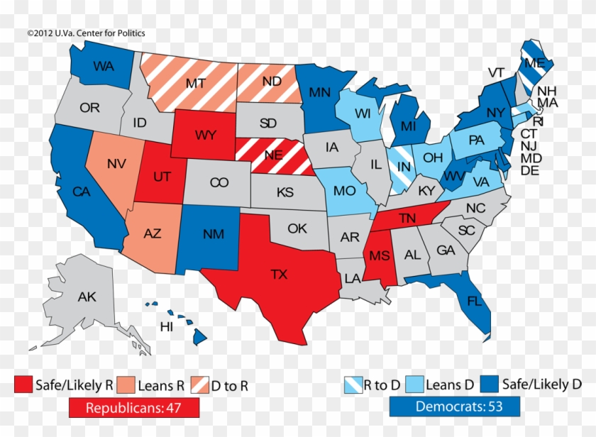 2012 Senate Ratings - 2018 Midterm Election Results Clipart #1792165