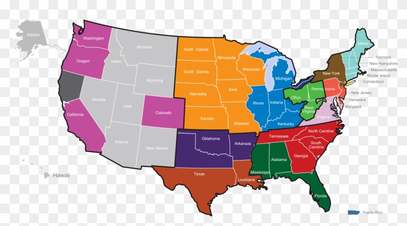 Usa Map - 1920 Presidential Election Us Clipart #1793334