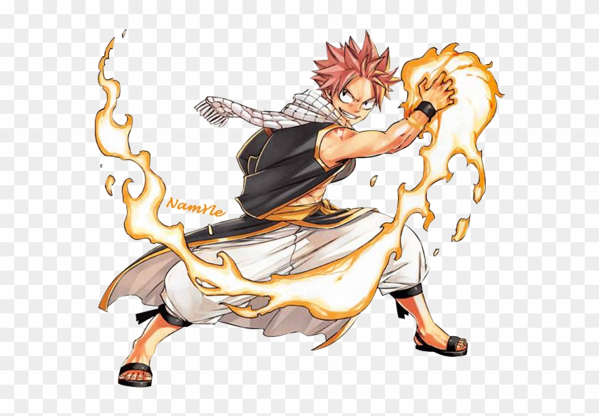 Natsu Dragneel Is A Wizard With The Powers Of A Dragonslayer - Fire Force Fairy Tail Clipart #180090