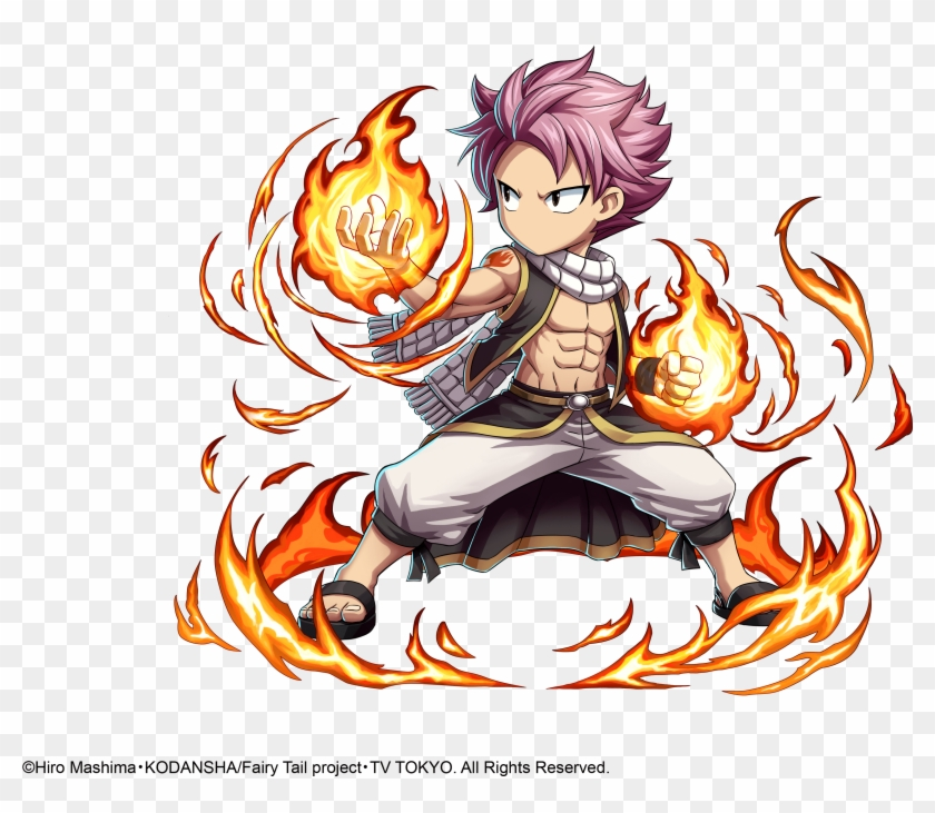 Battle Against All Four Fairy Tail Wizards, Natsu, - Brave Frontier Fairy Tail Clipart #180366