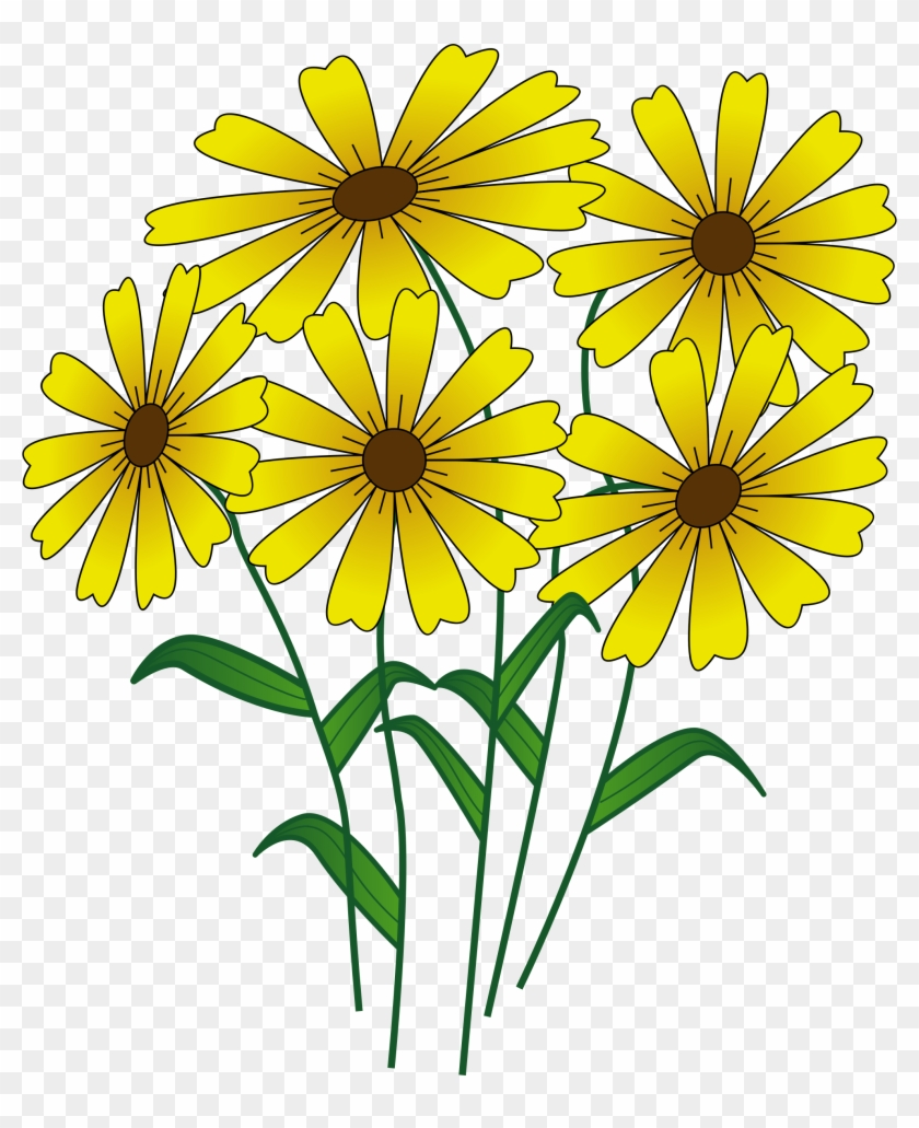 Yellow Flower Clipart Flowering Plant Transparent Cartoon Flowers Png Download 183979 Pikpng