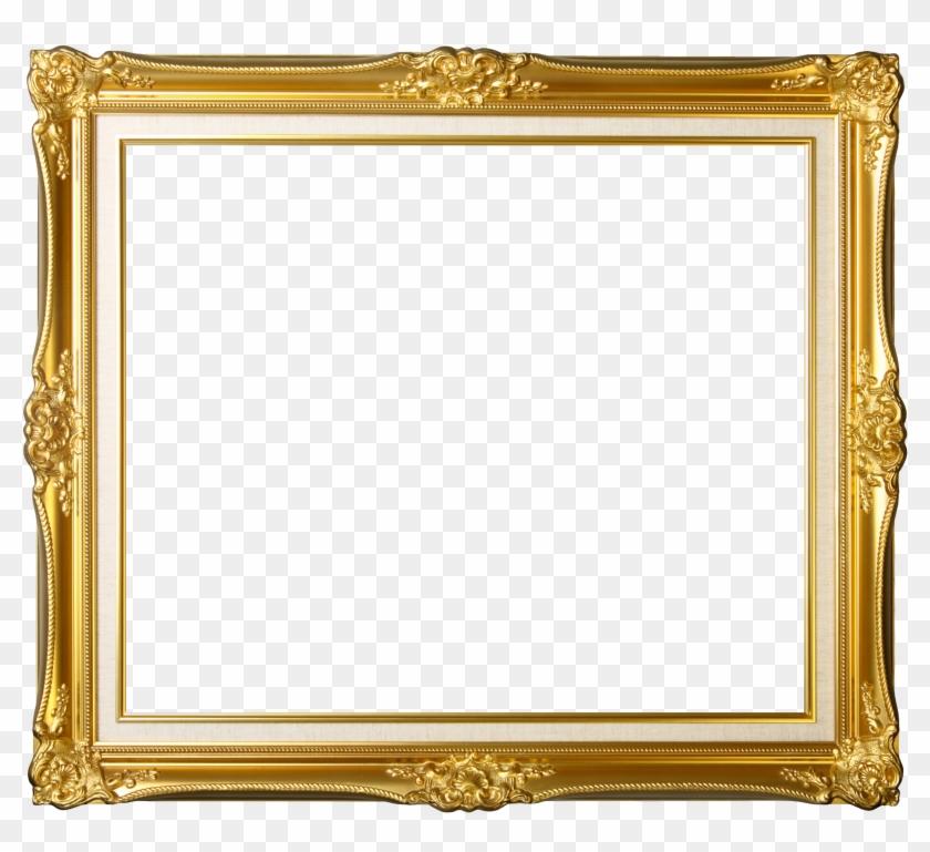 Gold Frame Transparent Png Image - Vintage Gold Photo Frames Clipart #185071