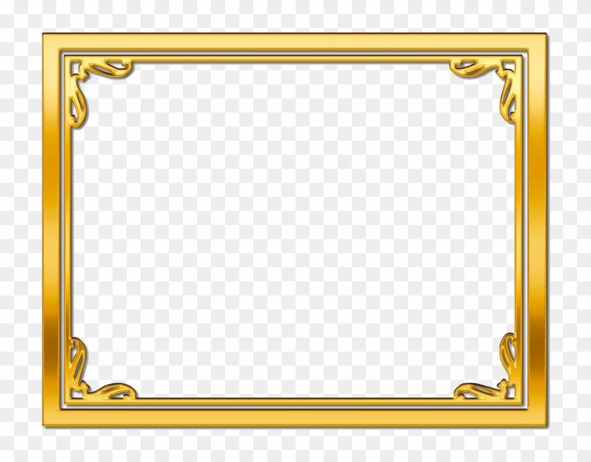 Golden Frame Transparent Image - Gold Frame Border Png Clipart #185199