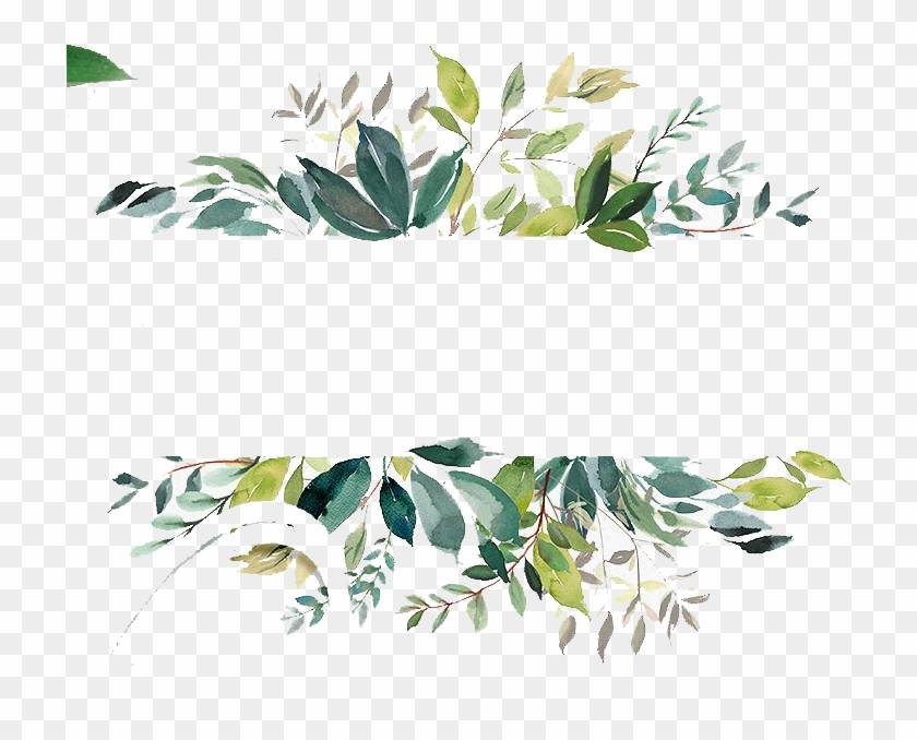 Free Watercolor Leaves Banner - Watercolor Leaves Border Png Clipart #185330