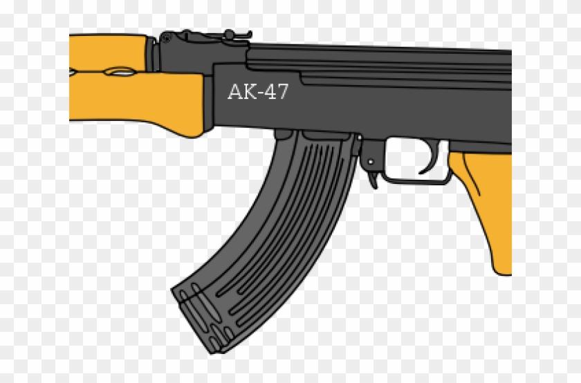 Machine Gun Clipart Ak 47 - Ranged Weapon - Png Download #1803444
