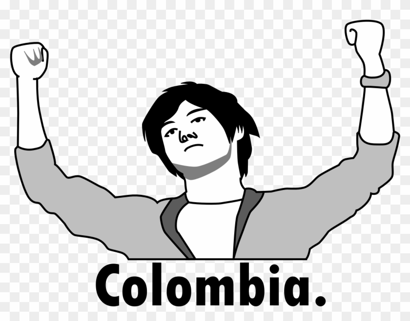 Colombia Rage Face - Colombia Japan Meme Clipart #1804968