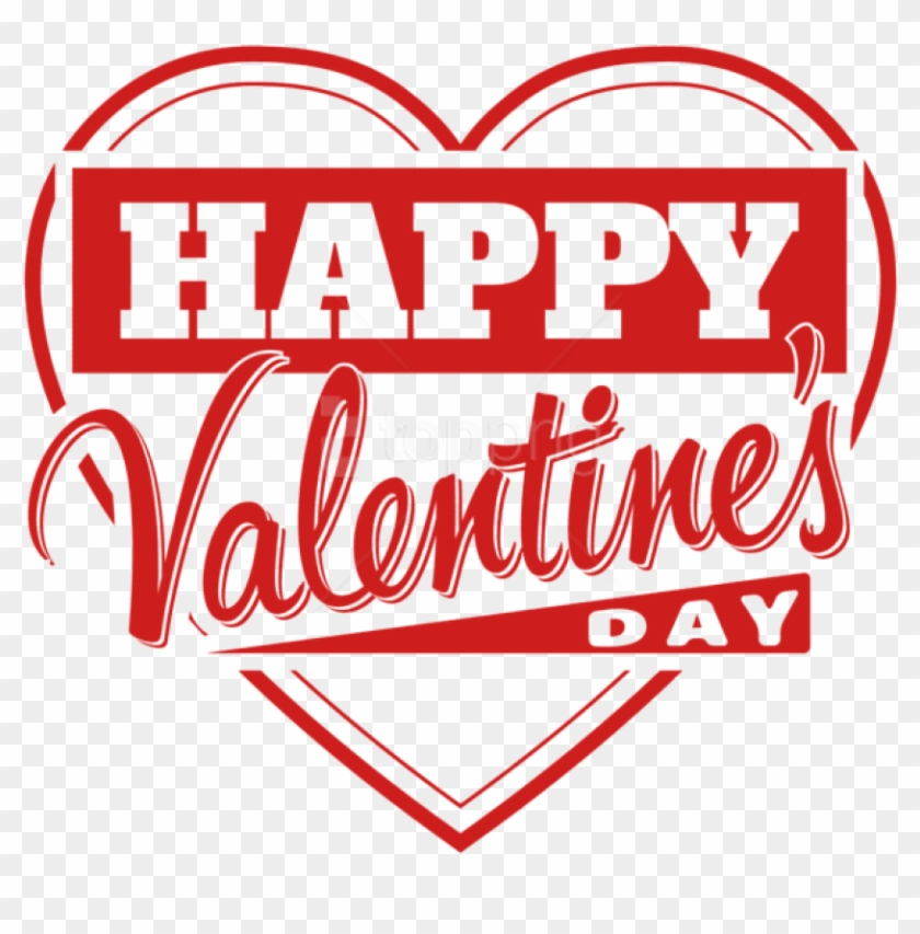 Free Png Download Happy Valentine's Day Heart Transparent - Happy Valentines Day Clipart Png #1805734