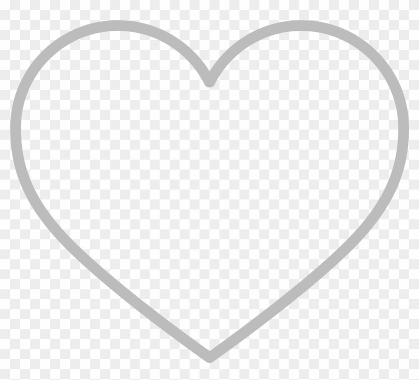 Line Style Icons Heart - Heart Outline Emoji Clipart #1816827