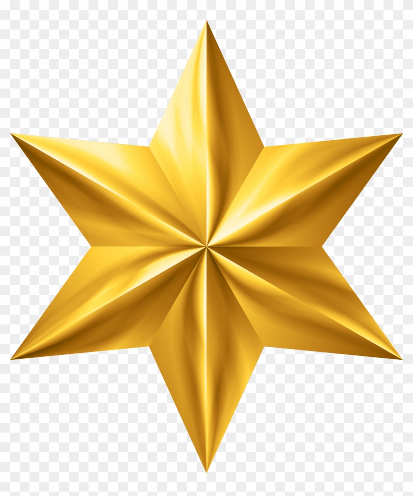 Gold Star Clip Art Png Image - Gold Star Clipart Transparent Png #1819340