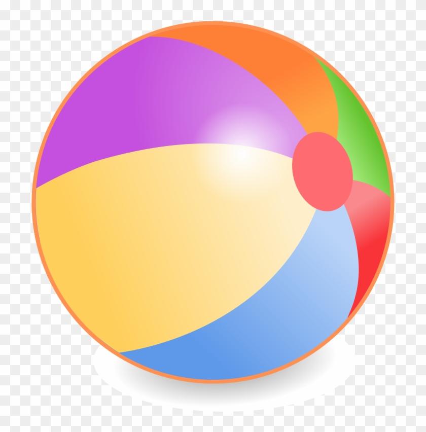 Beach Ball Cartoon - Beach Ball Vector Png Clipart@pikpng.com