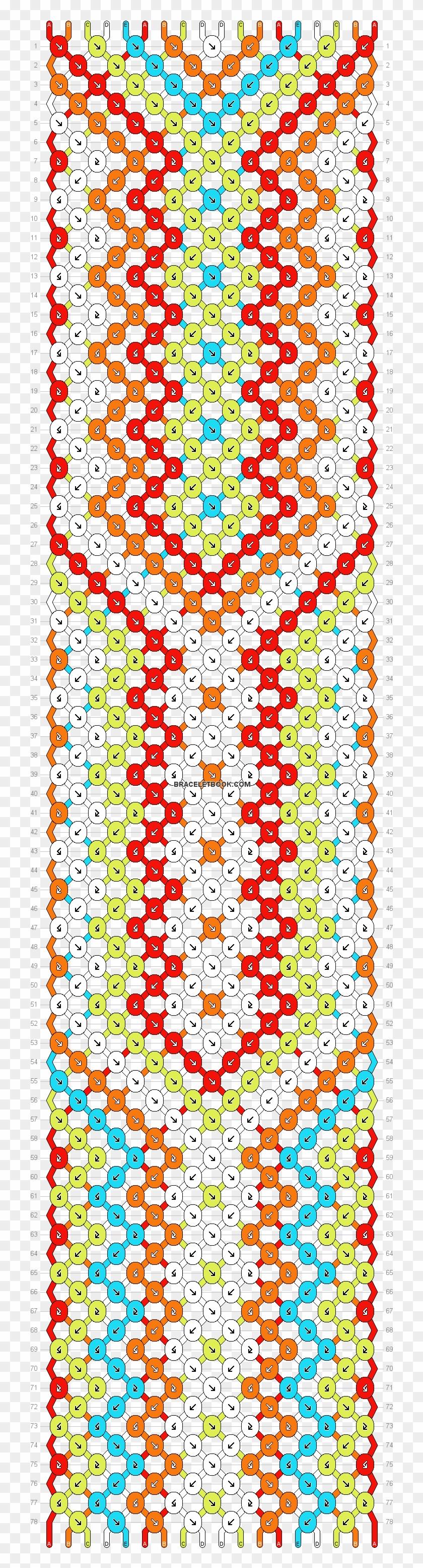 Normal Pattern Hardest Friendship Bracelet Patterns Clipart 1822750 Pikpng