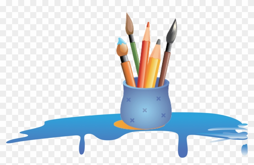 Colored Pencil Painting Transprent Png Free - Cartoon Colour Pencil Png Clipart #1827468