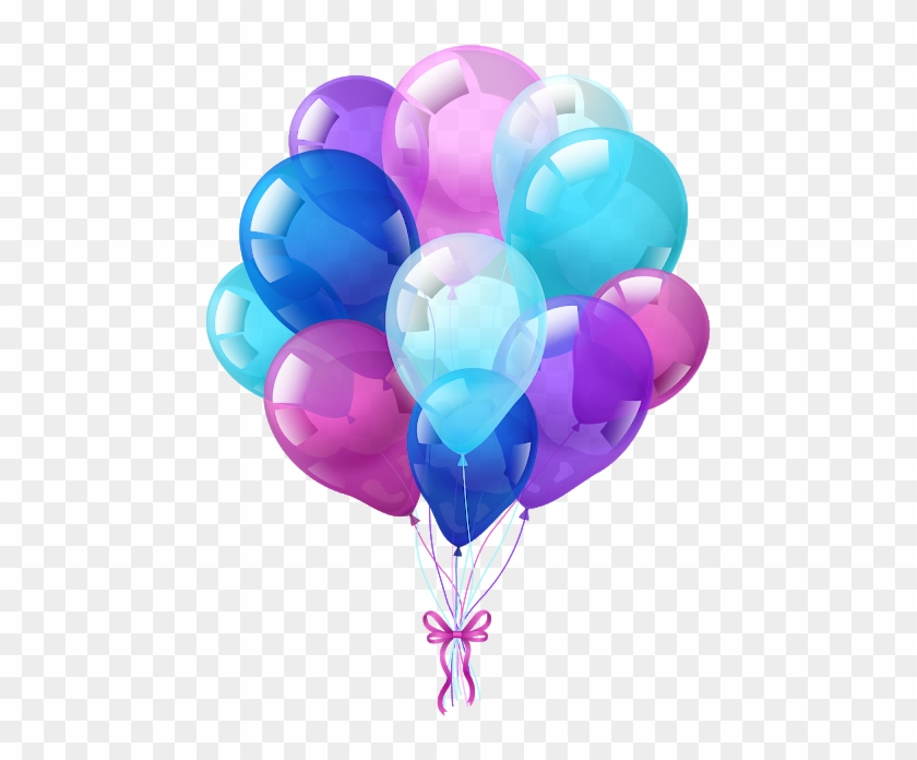 Birthday Belloons Images Png - Birthday Balloon Vector Png Clipart #1832781