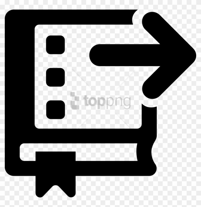Free Png Download Arrow Pointing Right Png Images Background - Book Arrow Icon Clipart #1838757
