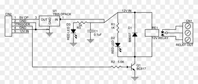 One Channel Sugar Cube Smd Relay Board - Single Channel Relay Module Schematic Clipart #1840240