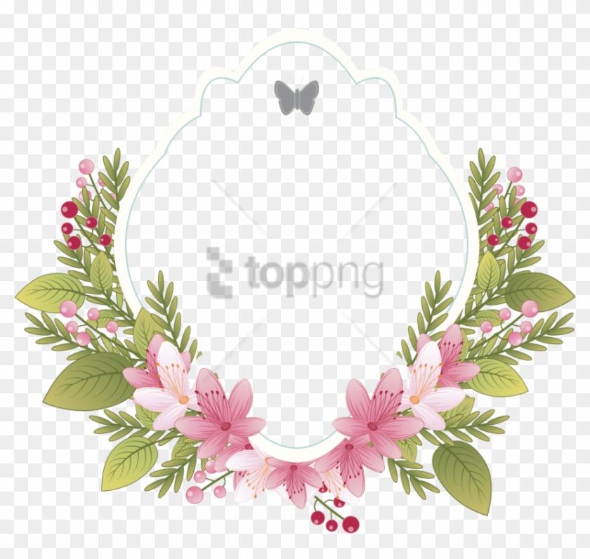 Free Png Frame Vintage Flower Png Image With Transparent - Wedding Flower Frame Png Clipart #1849467