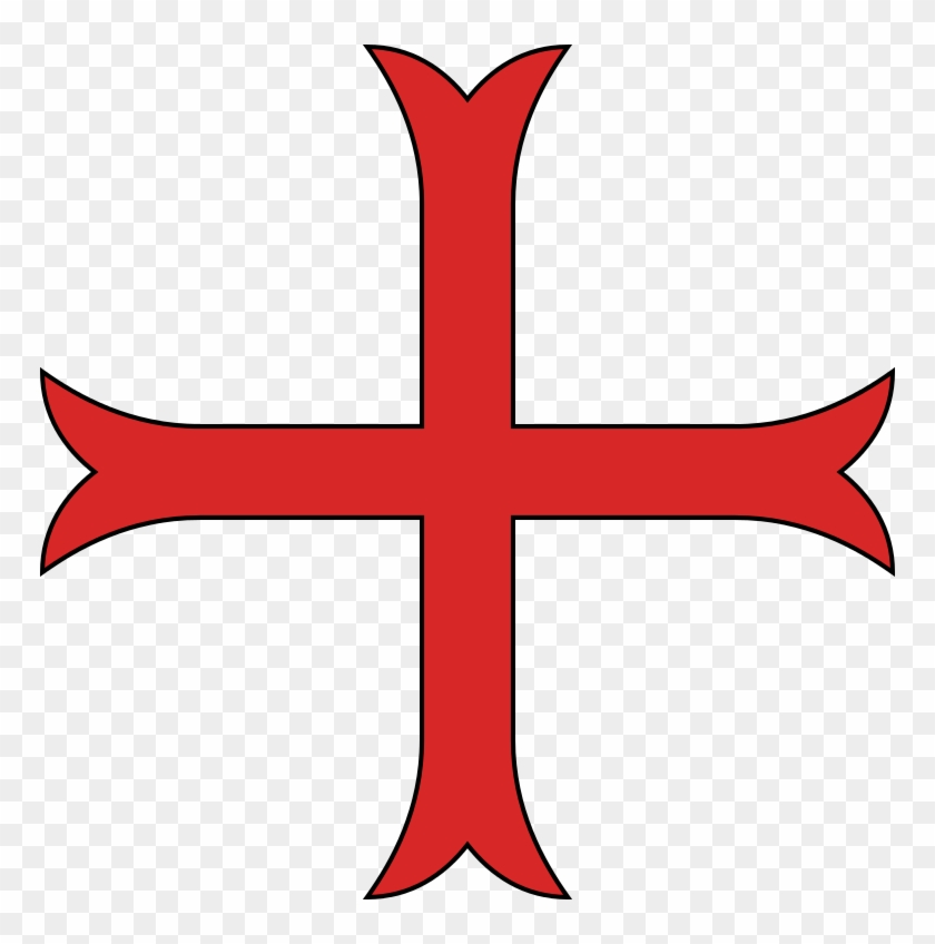 Red Cross Mark Clipart Emblem - Croix Ordre Des Templiers - Png Download #1849957