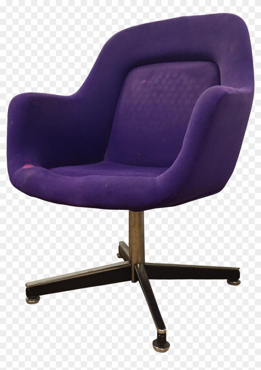 Furniture Chair White Furry Purple Desk Chair No Wheels Clipart 1851591 Pikpng